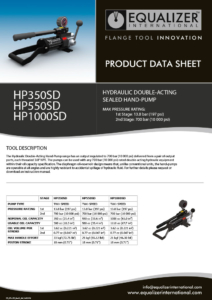 HP550SD Double-acting hydraulic sealed hand pump