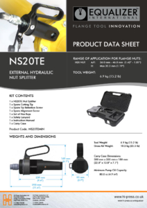 NS20TE-External-Hydraulic-Nut -plitter