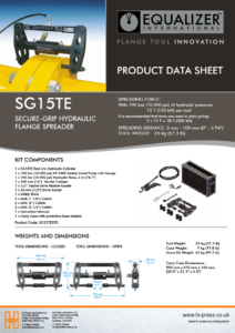 SG15TE Secure-grip hydraulic flange spreader