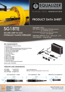 SG18TE Secure-grip in-line hydraulic flange spreader