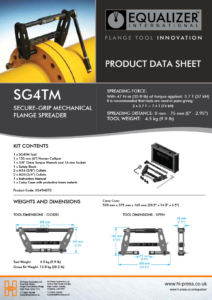 SG4TM Secure-grip mechanical flange spreader