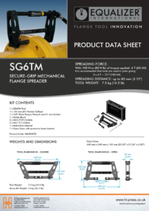 SG6TM Secure-grip mechanical flange spreader