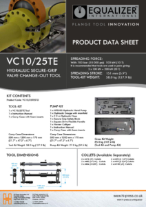 VC10/25TE Secure-Grip Valve Change-Out Tool