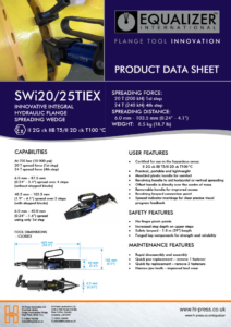 SWi20/25TIEX Innovative Integral Hydraulic Flange Spreading Wedge Datasheet
